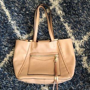 Blush leather Aimee Kestenberg tote NWT